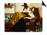 The Lady of the Tootni-Nameh; or the Legend of the Parrot Print by Valentine Cameron Prinsep