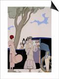 L'Ensie Print by George Barbier
