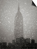 Snowfall in New York City Posters by Christopher C Collins