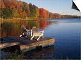 Ralph Morsch - Adirondack Chairs on Dock at Lake - Tablo