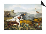 American Field Sports, a Chance For Both Barrels Print by  Currier & Ives