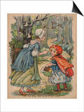 Little Red Riding Hood Sets Out to Visit Granny Posters