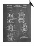 Hiking And Camping Backpack Patent Poster