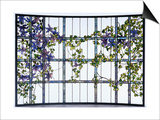 A 'Clematis' Leaded Glass Three-Sectioned Skylight, Akron, Ohio, Circa 1915 Posters by Maurice Bouval