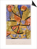 Dance-Flower Print by Paul Klee