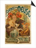 Meuse Beer Posters by Alphonse Mucha