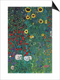 Garden Posters by Gustav Klimt