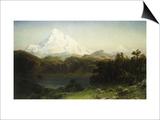 Mount Hood in Oregon Posters by Albert Bierstadt