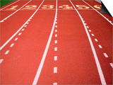 Synthetic Track Lanes Poster von Jim Vecchi