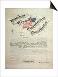 President Lincoln, Emancipation Proclamation, San Francisco Prints