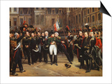 The Farewells of Fontainebleau, 20th April 1814 Poster von Horace Vernet