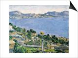L'Estaque, View of the Bay of Marseilles Prints by Paul Cézanne