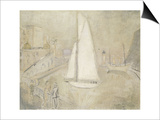 The White Yacht in Monte Carlo Prints by Christopher Wood