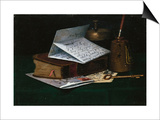 Tabletop Still Life, a Letter from New York Posters by John Frederick Peto