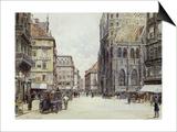 Stefanplatz, Vienna Posters by Rudolf Bernt