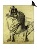 After the Bath Print by Edgar Degas