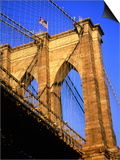 Brooklyn Bridge Print by Alan Schein
