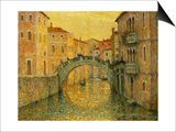 The Morning Sun, Venice Affischer av Henri Le Sidaner