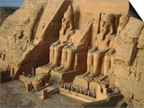 Ramses temple in Abu Simbel Print by Fridmar Damm