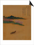 Hermit Fishing on the Peach Blossom Stream, in the Style of Zhao Mengfu, from an Album of Ten… Arte por Yun Shouping