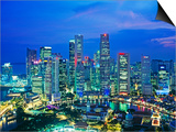 Singapore skyline Prints by Murat Taner