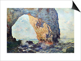 The Rocky Cliffs of retat (La Porte Man) Prints by Claude Monet
