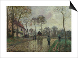 The Coach to Louvecienne Prints by Camille Pissarro