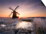 Herringfleet Windmill at Sunrise Prints by Chris Herring