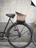 Bicycle with weathered basket Posters by Jenny Elia Pfeiffer