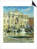 Trevi Fountain, Rome Posters by Colin Campbell Cooper