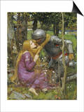 A Study for La Belle Dame Sans Merci Posters by John William Waterhouse