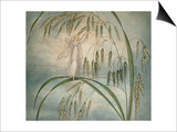A Fairy Waving Her Wand Standing Among Blades of Grass Poster by Amelia Jane Murray