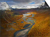 Rapa Valley in Fall in Sweden's Sarek National Park Posters by Hans Strand