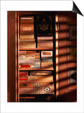 A Hand Made Cedar Armoire Containing Boxed Cigars Posters