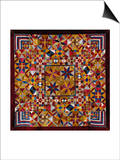 A Crazy Quilt Pattern Coverlet, 1880-1890 Posters