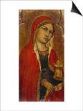 St Mary Magdalene - a Fragment from an Altarpiece Posters af Taddeo di Bartolo