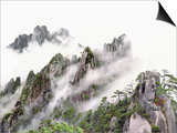 Mist Over Sanqing Mountain in China Print by Wong Adam