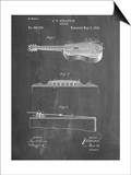 Acoustic Guitar Patent Poster