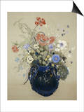 A Vase of Blue Flowers, circa 1905-08 Posters by Odilon Redon