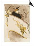"""Le Loge Au Mascaron Dore (Programme For """"Le Missionaire"""") Póster por Henri de Toulouse-Lautrec"""