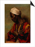 An Arab in Meditation Prints by Carl Ludwig Ferdinand Messmann