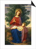 The Madonna and Child Prints by Julius Schnorr von Carolsfeld