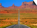 Highway Leading to Monument Valley Print by Jean-pierre Lescourret