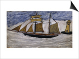 Boat and Lighthouse Prints by Alfred Wallis