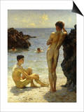 Lovers of the Sun Prints by Henry Scott Tuke