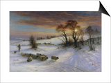 The Evening Glow Print by Joseph Farquharson