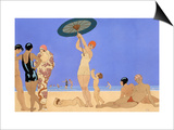 At the Lido Posters by Georges Barbier