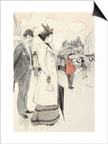 A Couple Waiting for a Bus Prints by Théophile Alexandre Steinlen