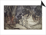 The Meeting of Oberon and Titania Prints by Arthur Rackham