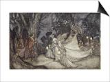 The Meeting of Oberon and Titania Prints by Arthur Rackham